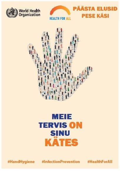 WHO 2019. aasta kätehügieeni päeva plakat